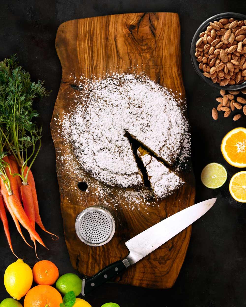 Torta agli agrumi mandorle e carote